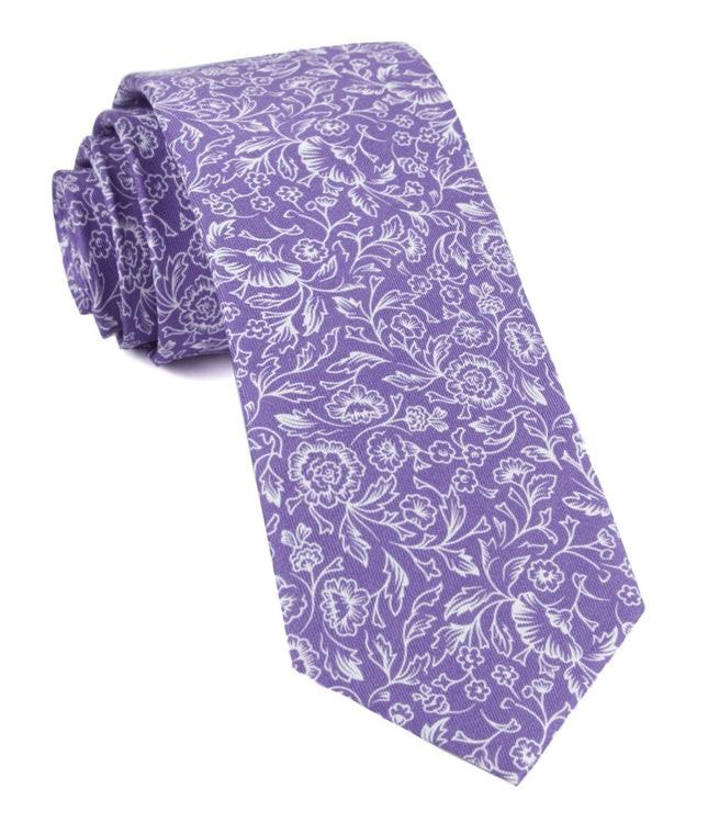 Bracken Blossom Wisteria Tie