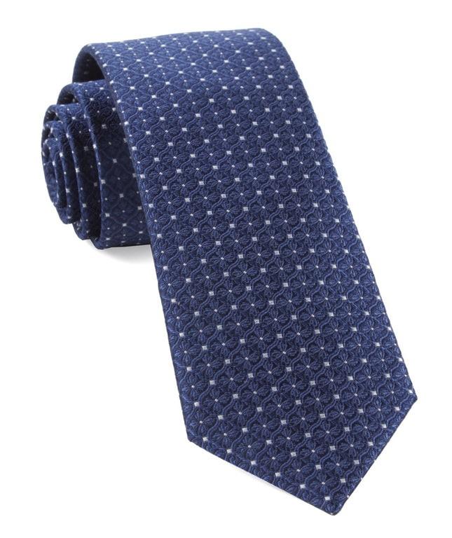 Medallion Lane Navy Tie