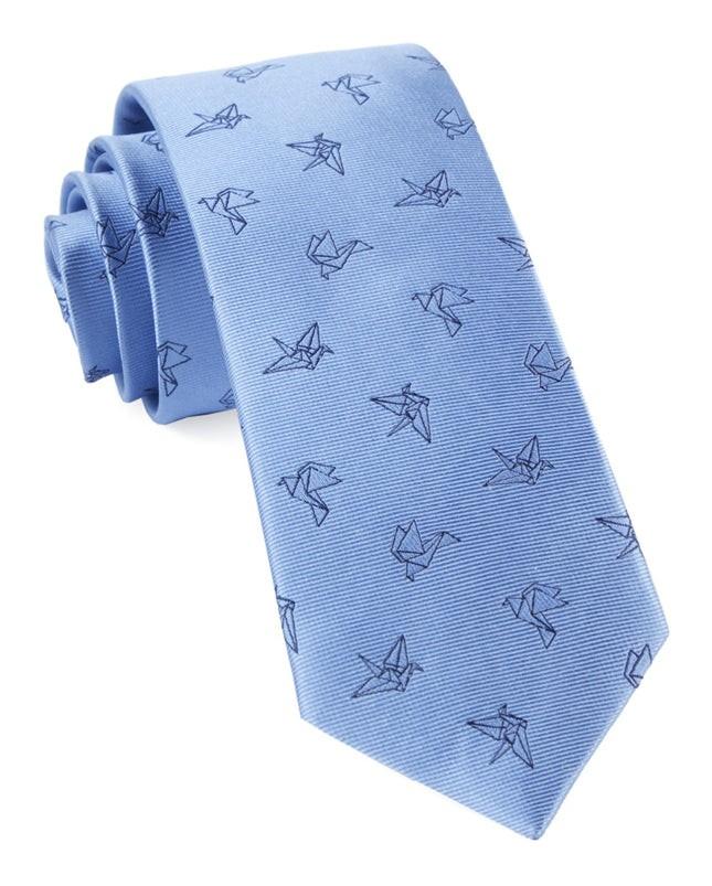 Origami Light Blue Tie