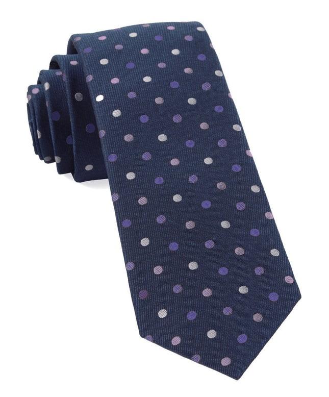 Spree Dots Purples Tie
