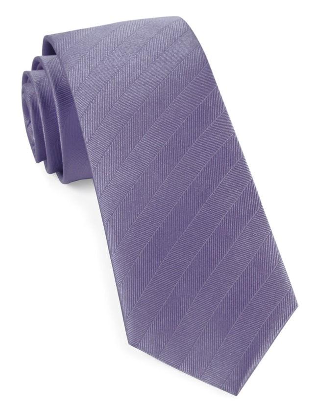 Herringbone Vow Lavender Tie