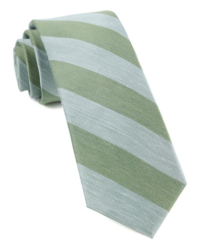 Rsvp Stripe Moss Green Tie