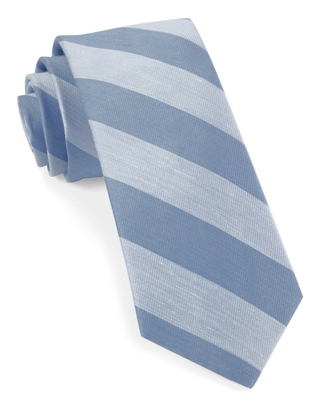 Rsvp Stripe Light Blue Tie