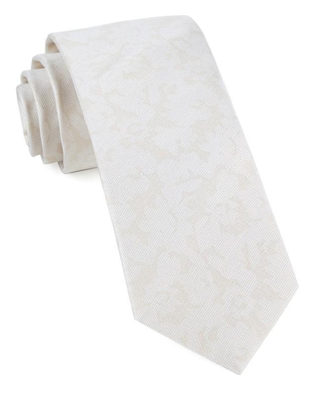 Refinado Floral Light Champagne Tie