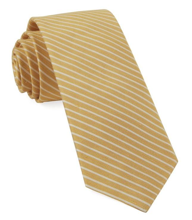 Pier Stripes Yellow Tie