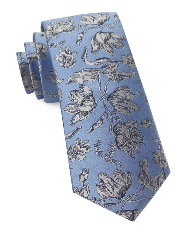 Floral Swell Light Blue Tie