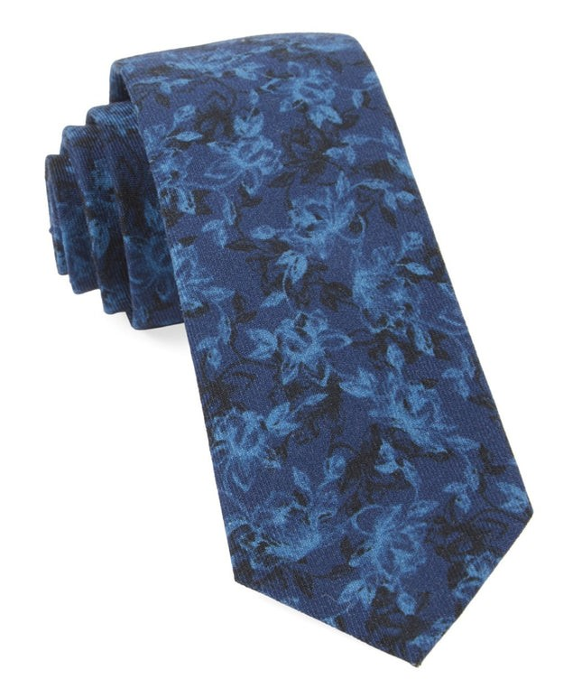Bovine Floral Navy Tie