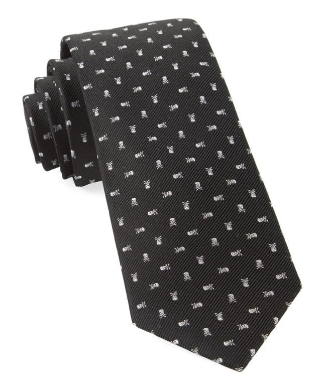 Mini Skull And Crossbones Black Tie