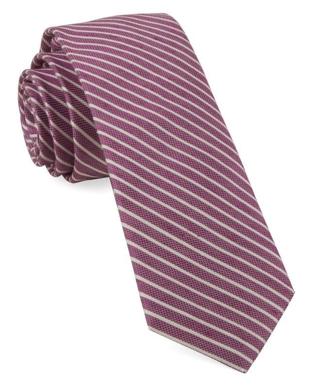 Pier Stripes Azalea Tie