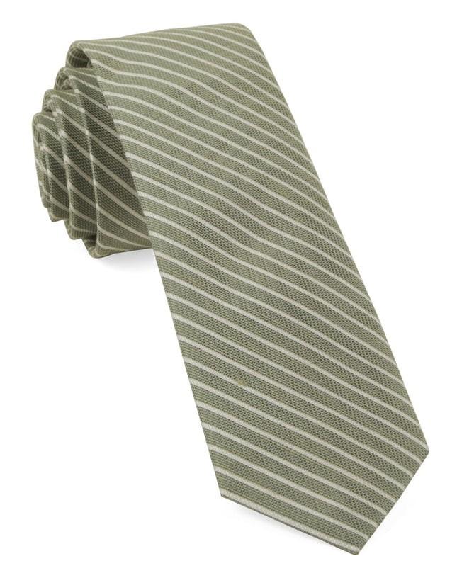 Pier Stripes Sage Green Tie