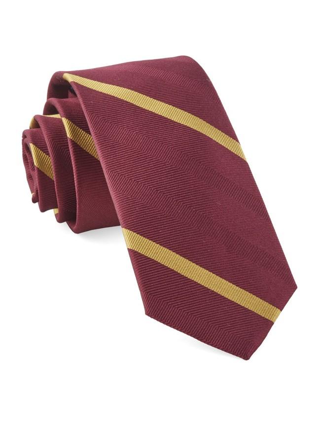 Goal Line Stripe Burgundy Tie