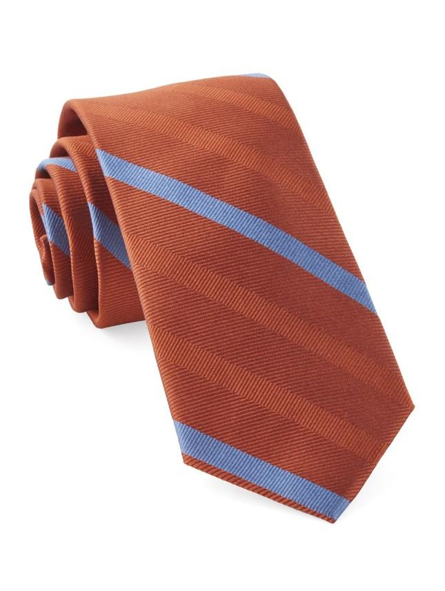 Goal Line Stripe Orange Tie