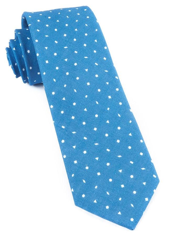 Linen Confetti Serene Blue Tie
