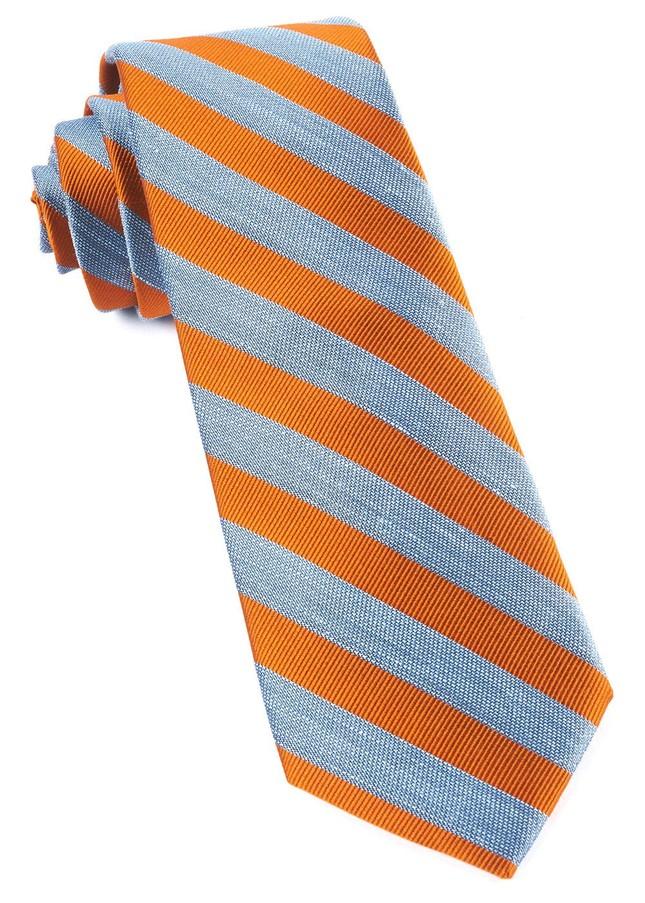 Lumber Stripe Orange Tie