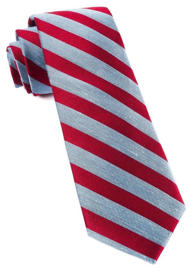 Lumber Stripe Red Tie