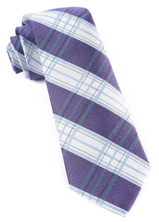 Noonday Plaid Purple Tie