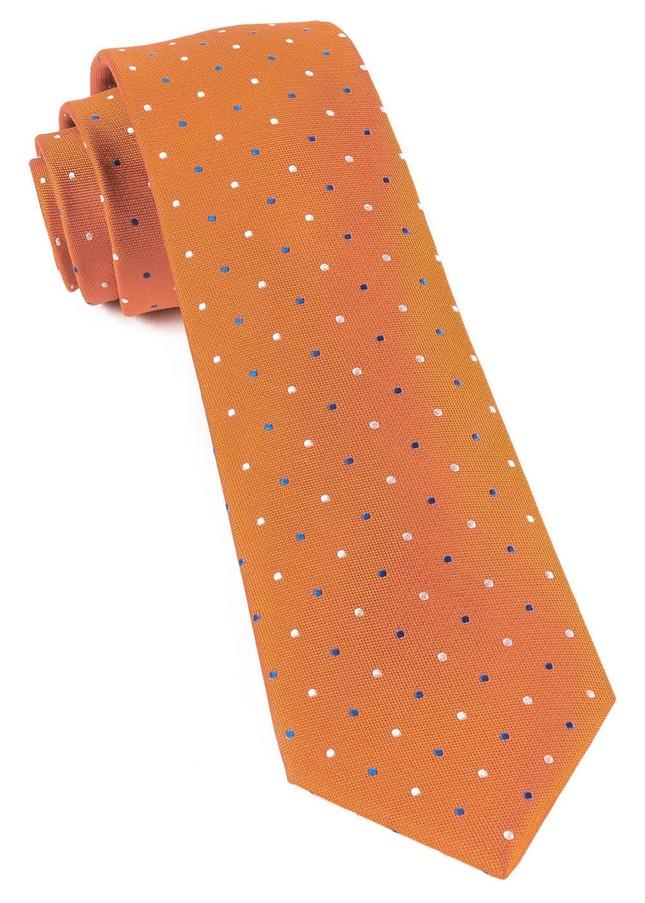 Jpl Dots Orange Tie