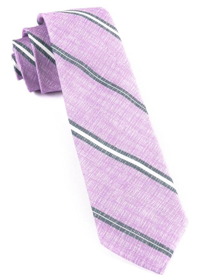 Spare Stripe Wisteria Tie