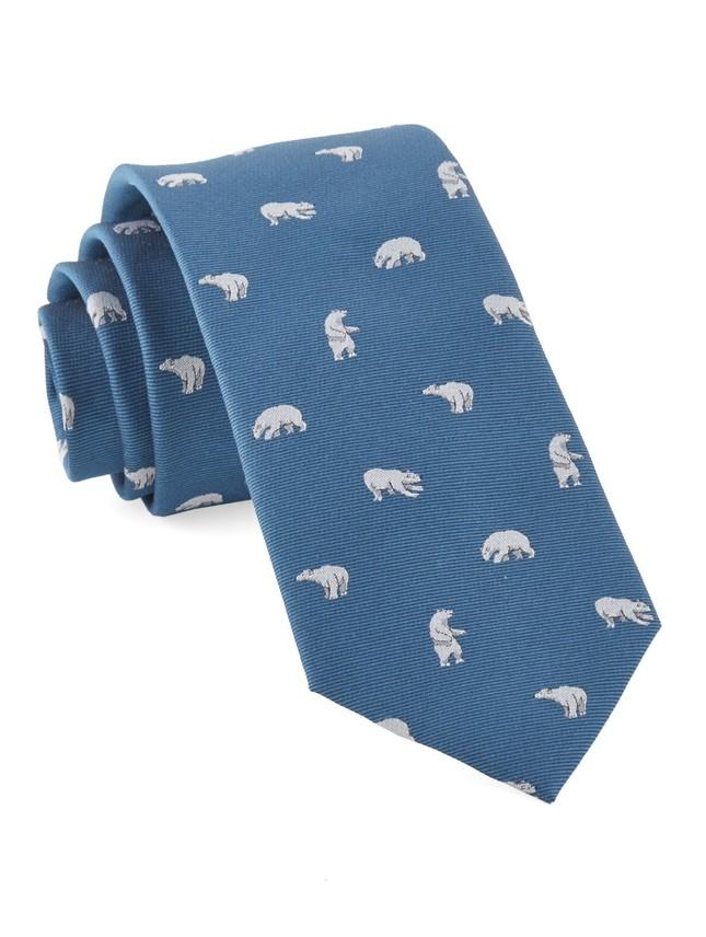Polar Bears Teal Tie