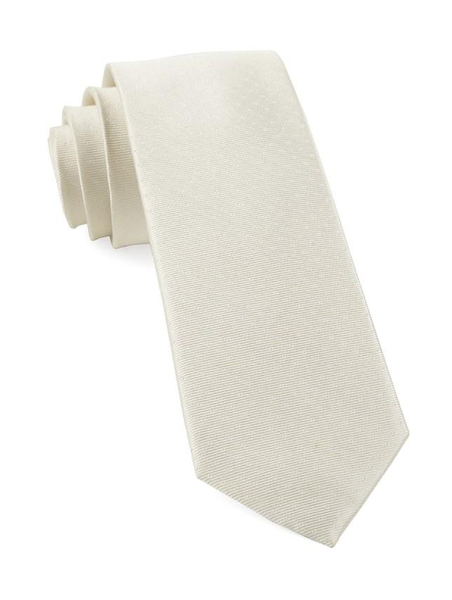 Mini Dots Ivory Tie