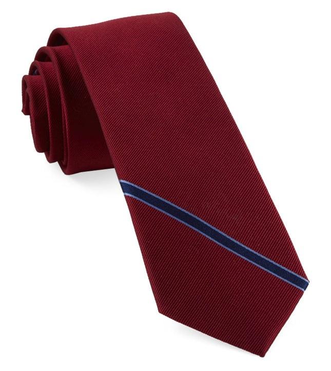 Triple Play Stripe Red Tie