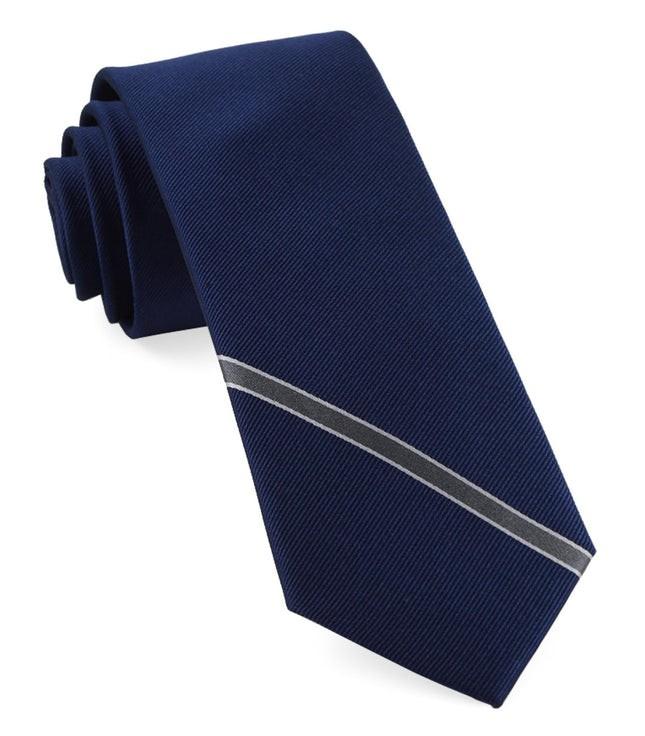 Triple Play Stripe Navy Tie