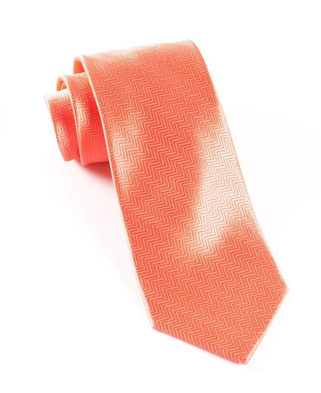 Herringbone Coral Tie