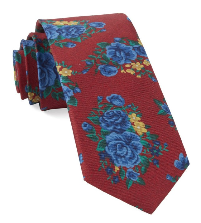 Hinterland Floral Apple Red Tie