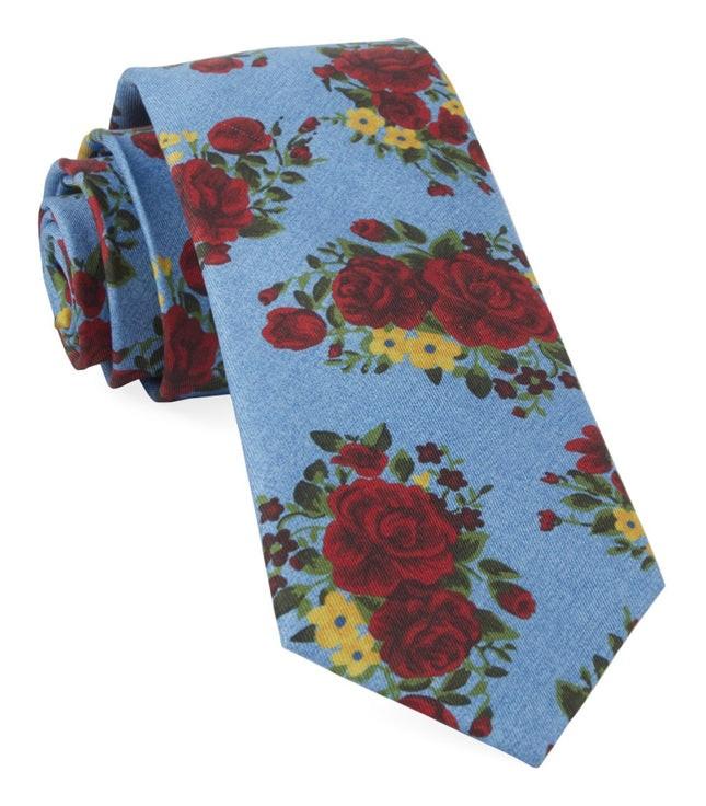 Hinterland Floral Sky Blue Tie