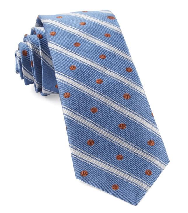 Basketball Stripe Slate Blue Tie