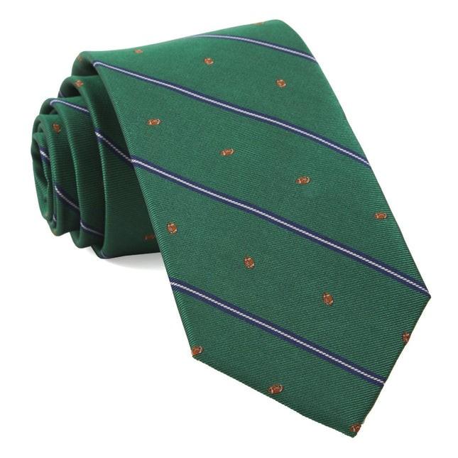 Football Stripe Kelly Green Tie