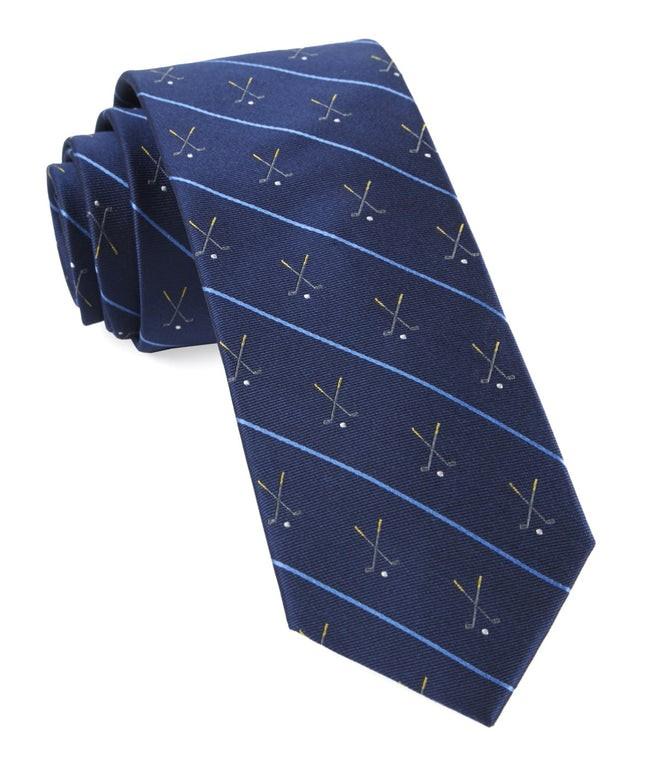 Golf Club Stripe Navy Tie