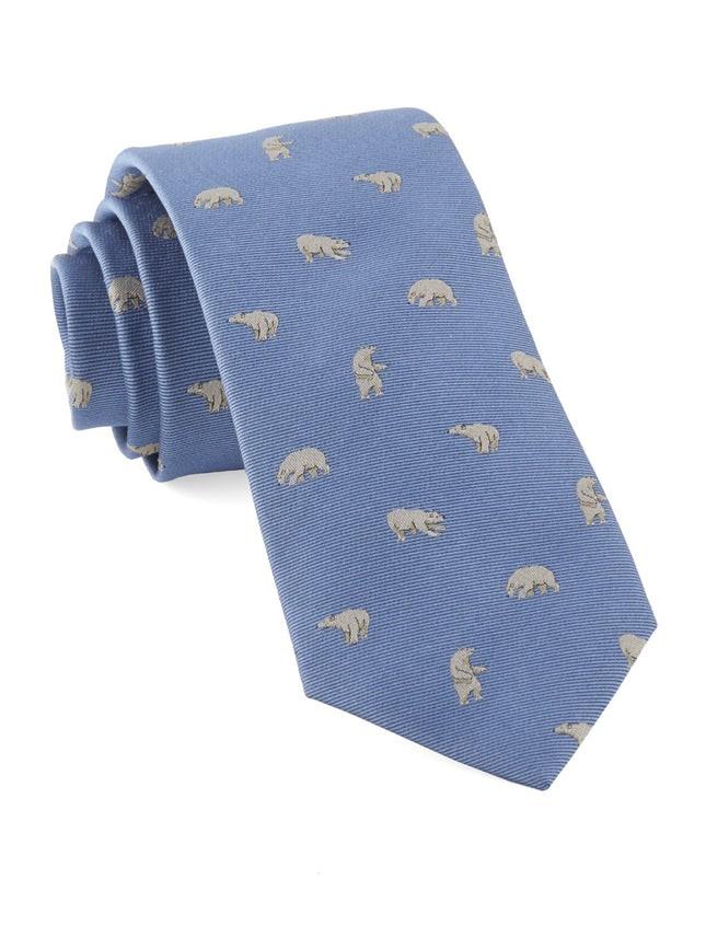 Polar Bears Light Blue Tie