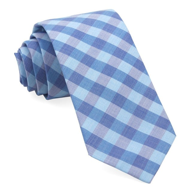 Old City Checks Teal Tie