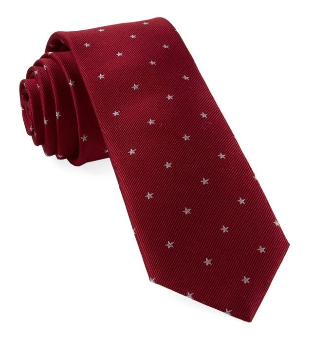 Statesman Stars Red Tie