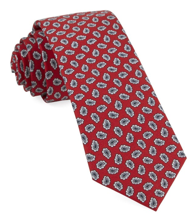 Fringe Paisley Apple Red Tie