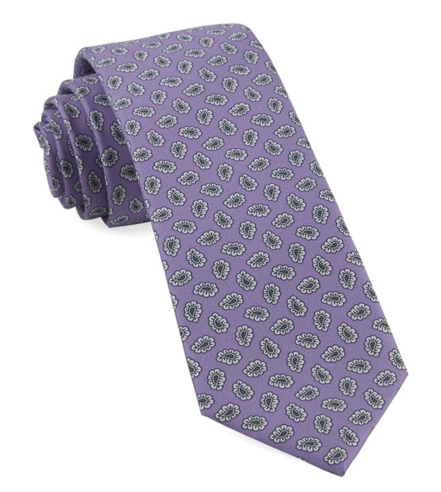 Fringe Paisley Lilac Tie