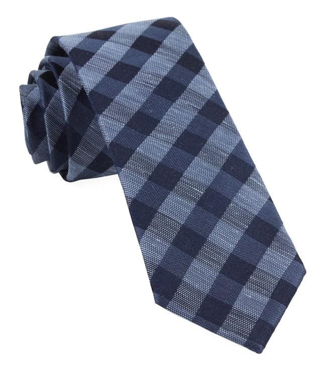 Hale Checks Slate Blue Tie