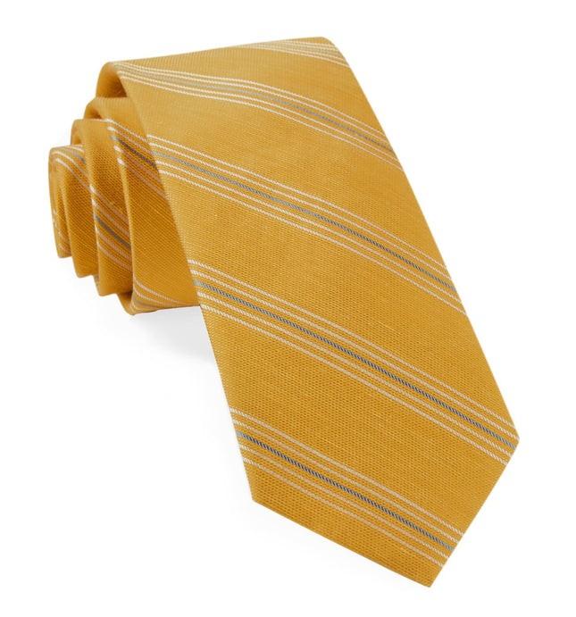 Derby Lane Stripe Mustard Tie