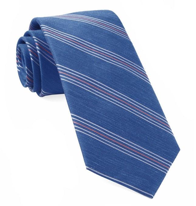 Derby Lane Stripe Light Cobalt Blue Tie