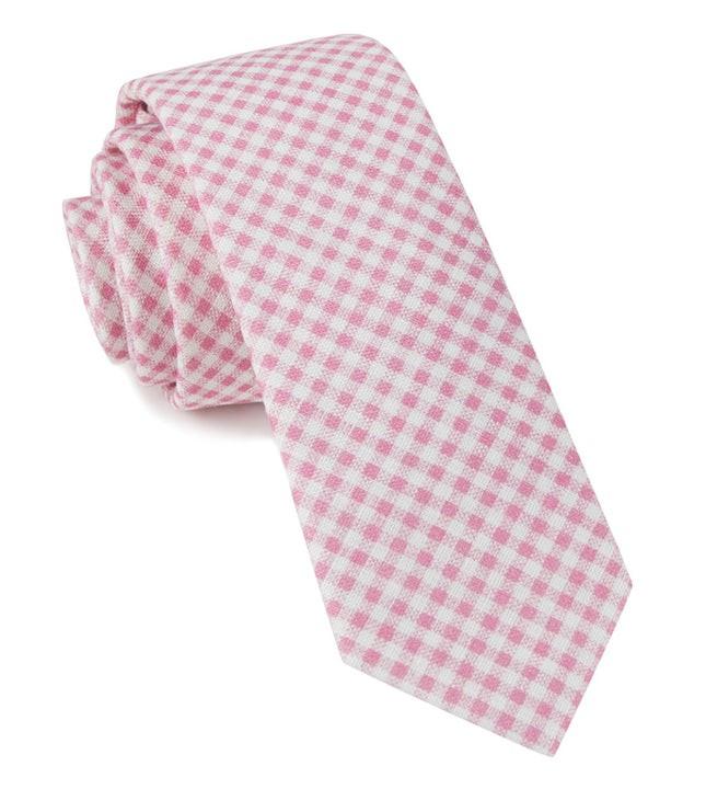 Chance Checks Pink Tie
