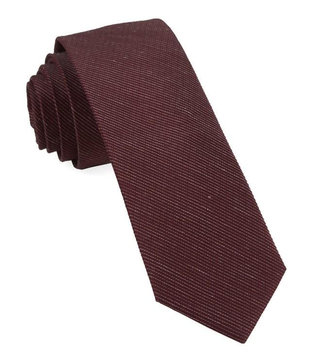 Bhldn Black Cherry Solid Black Cherry Tie