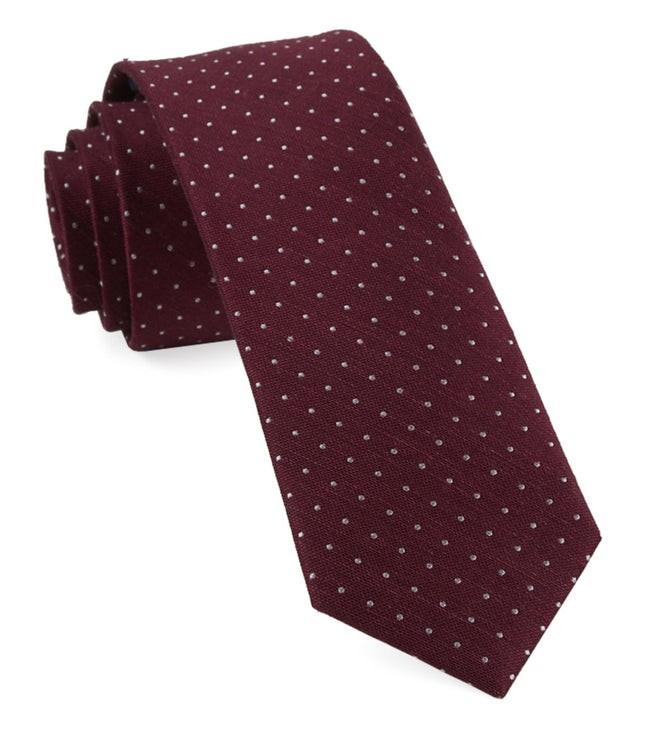Bhldn Black Cherry Dot Black Cherry Tie