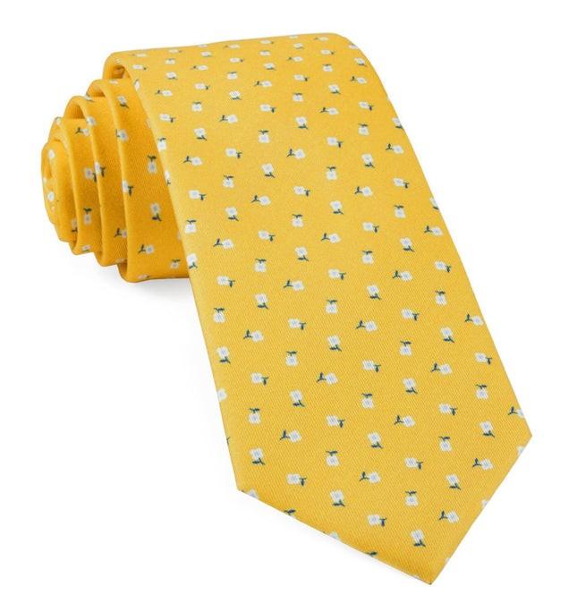 Wonder Floral Yellow Gold Tie