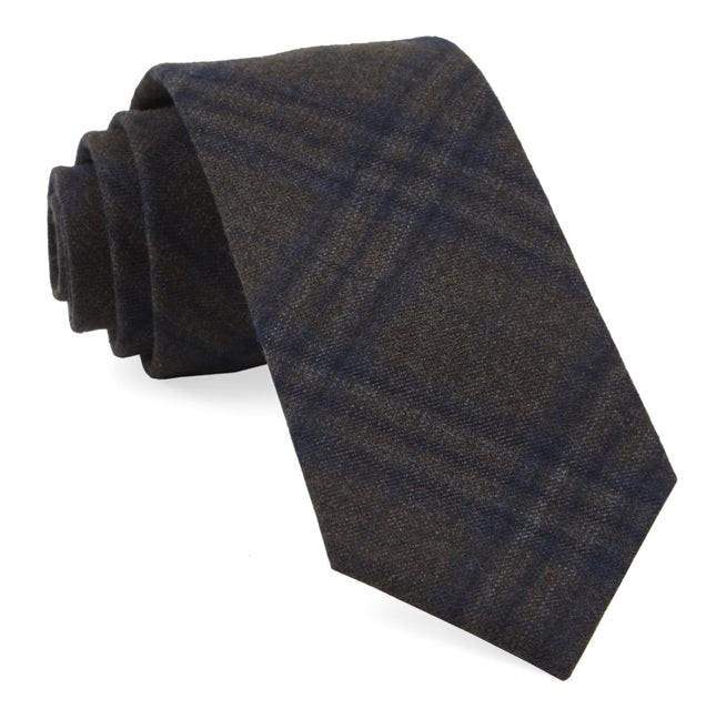 Grit Plaid Brown Tie