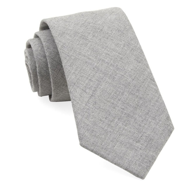 Foundry Solid Light Grey Tie