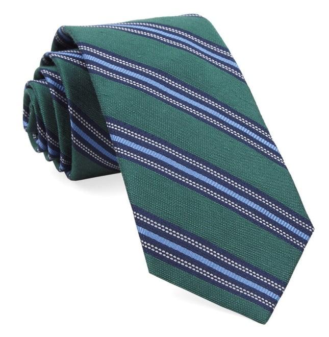 Rangel Stripe Hunter Green Tie