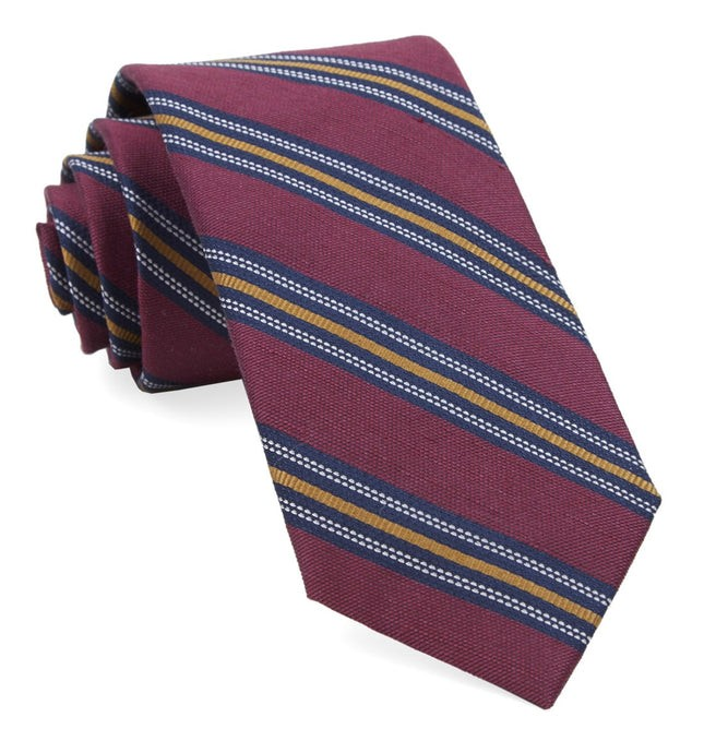 Rangel Stripe Burgundy Tie