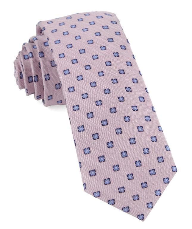 Medallion Scene Baby Pink Tie