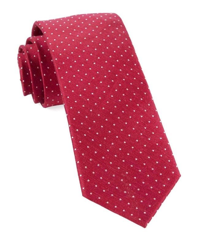 Rivington Dots Apple Red Tie